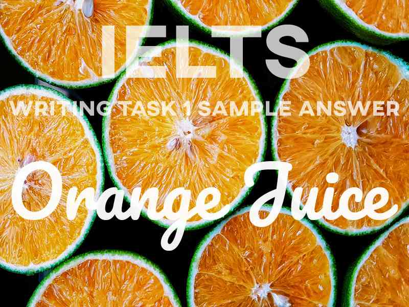 IELTS Writing Task 1 Sample Answer: Orange Juice (Process)