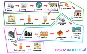 Ielts writing task 1 how to analyse a process how to do ielts pink rehydration producing reconstituted orange juice for supermarkets ccuart Images