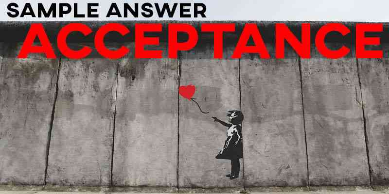 IELTS Writing Task 2 Sample Answer: Acceptance