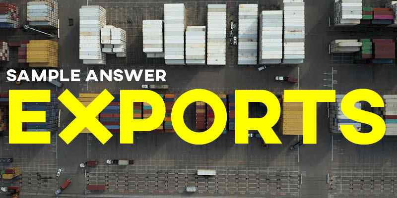 IELTS Writing Task 1 Sample Answer: Exports in Various Categories
