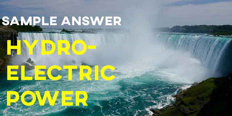 IELTS Writing Task 1 Sample Answer: Hydroelectric Power Station Process Diagram (IELTS Cambridge 14)