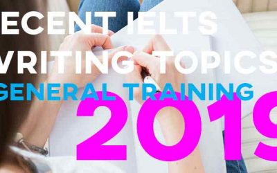 Recent General Training IELTS Writing Topics 2019