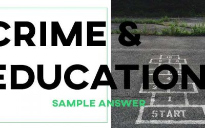 IELTS Writing Task 2 Sample Answer: Education and Crime (Real Test)