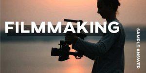 IELTS Writing Task 2 Filmmaking