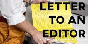 IELTS Writing Task 1 Sample Answer Letter