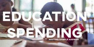 IELTS writing task 2 sample answer essay school spending