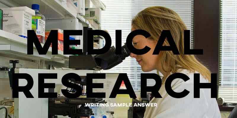 IELTS Writing Task 2 Sample Answer Essay: Medical Research (Real Past IELTS Exam)