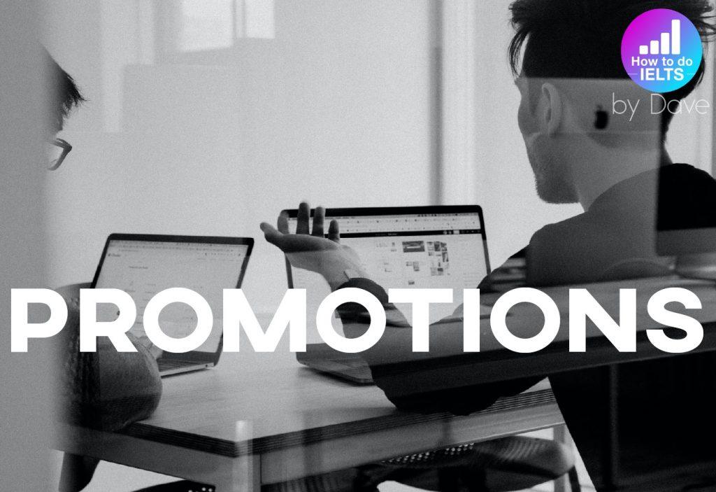 IELTS Essay: Promotions
