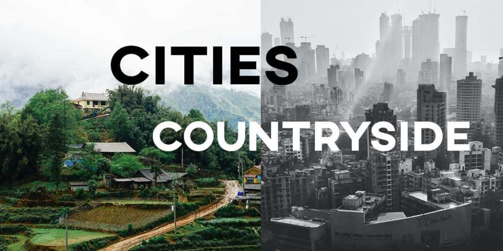 IELTS Essay General Training: Cities vs Rural Areas