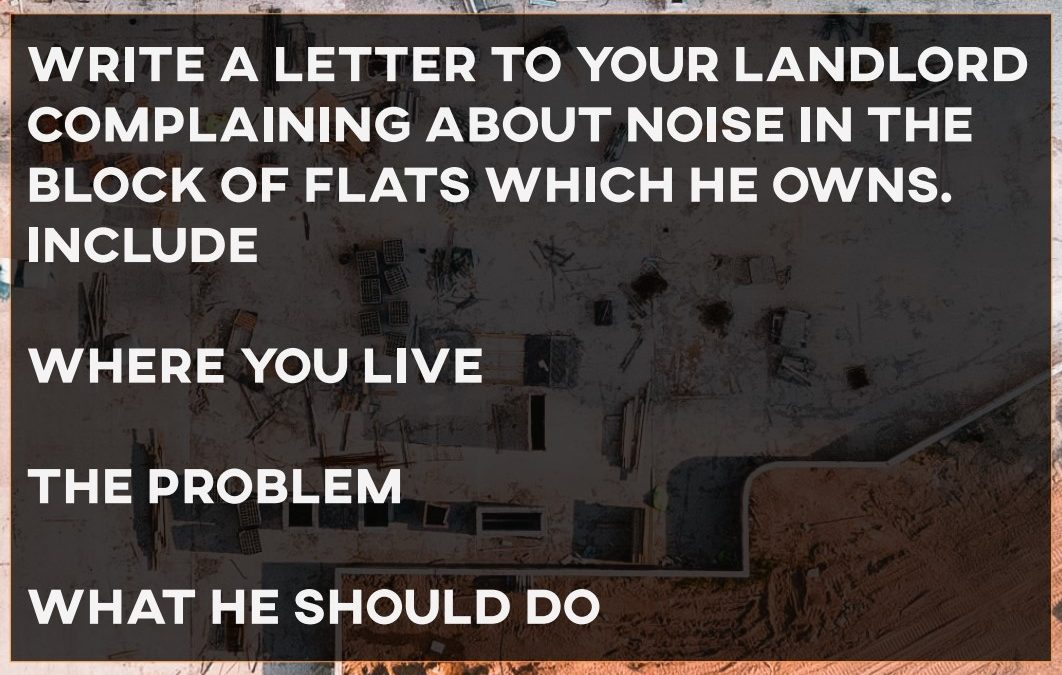 IELTS Essay: Letter to a Landlord