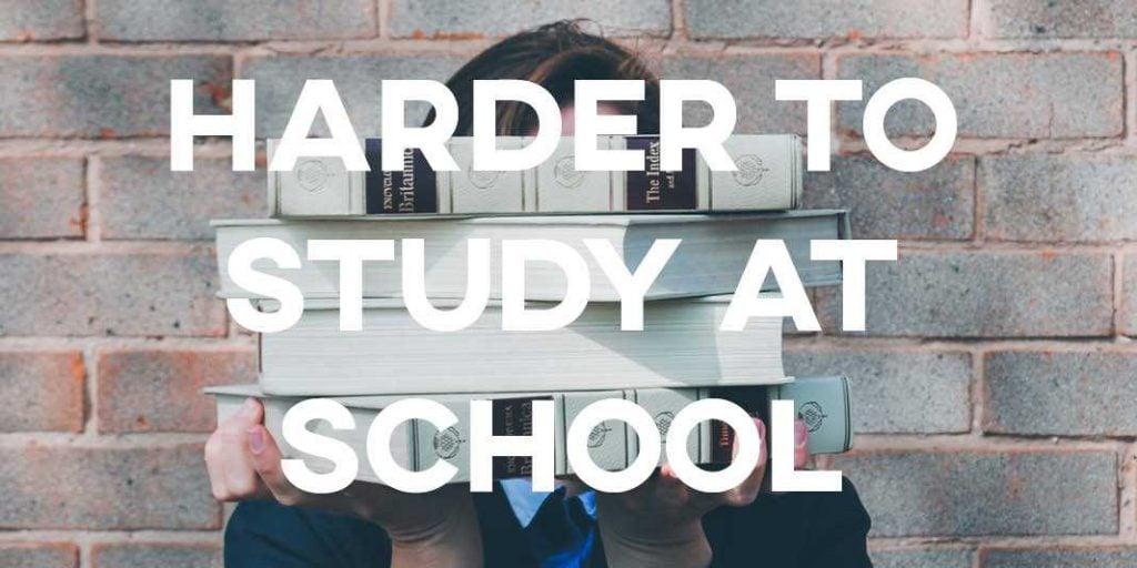 IELTS Essay: Harder to Study at School