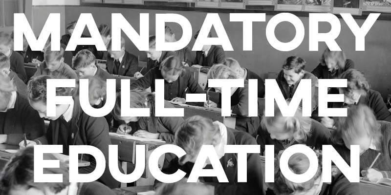 IELTS Essay: Mandatory Full-Time Education